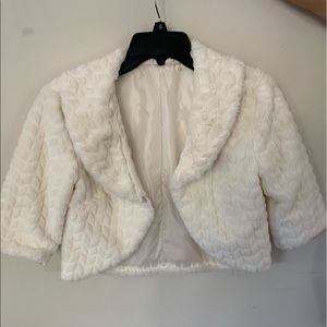 Kids White Puffy Jacket